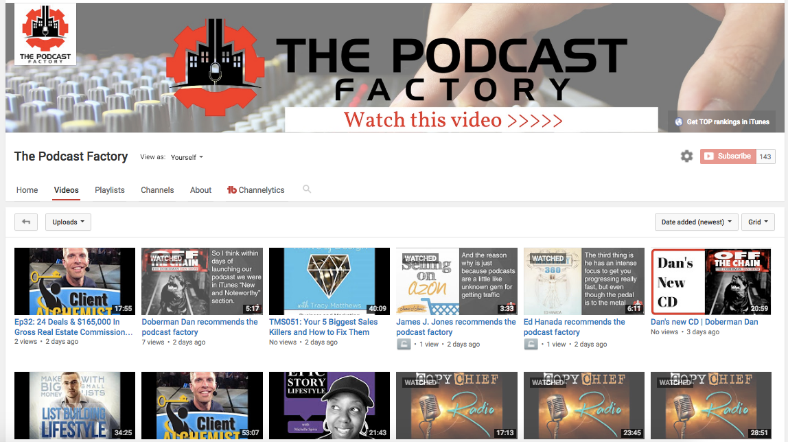 Click HERE for The Podcast Factory on You Tube