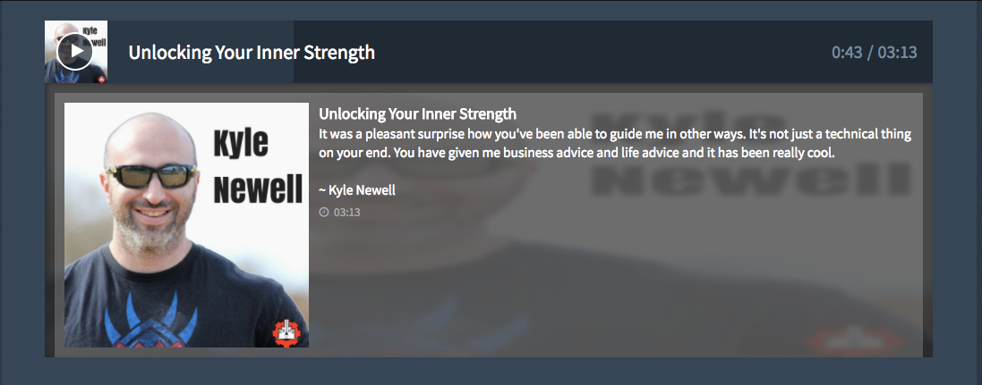 Click here to listen to Kyle's experience